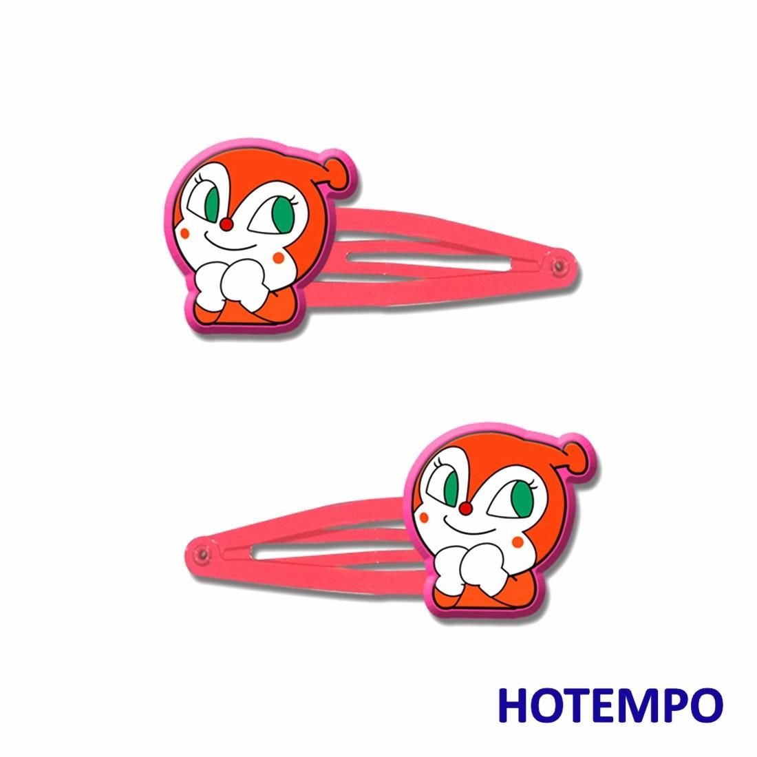 6pcs Anime Superman Anpanman Hair Accessories Dokin chan Baikinman Hair Clips for Girls Cartoon Kids 5cm Hairpin Children Barret in Hair Accessories from Mother Kids