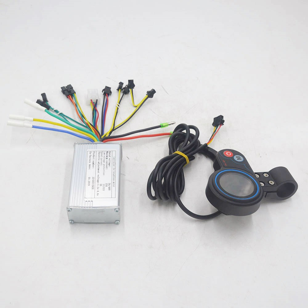 36V 48V 250W 350W Electric Bike Scooter Controller With Throttle LCD Display Speed For BLDC Motor/scooter/e Bike