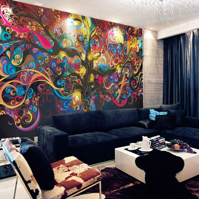 Tree Of Life Photo Wallpaper Psychedelic Wallpaper Custom 3D Wall Mural Art Bedroom  Bedroom Bar Shop Part 48