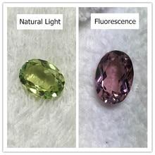 Александритовый камень овальной формы, зеленый, красный, граненый, создан для ювелирных изделий из драгоценных камней и бусин, сделай сам, феноменальный лабораторный драгоценный камень