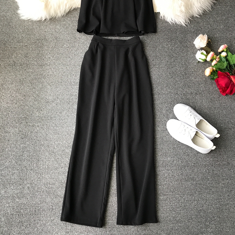 HTB1dREnVCzqK1RjSZPxq6A4tVXah - two piece set women fashion sexy short top and long pants casual sleeveless Elastic high waist female summer festival clothing