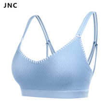 JNC Women's Removable Padded Sports Bras Medium Support Workout Yoga Bra Strappy Sports Fitness Top Running Bra Workout Clothes