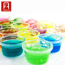 Фотография Non-toxic Blowing Bubbles Crystal Mud Super Light Clay Draw Slime Funny Toys Hand-Pulled Noodle Crystal Play dough Mud Toys