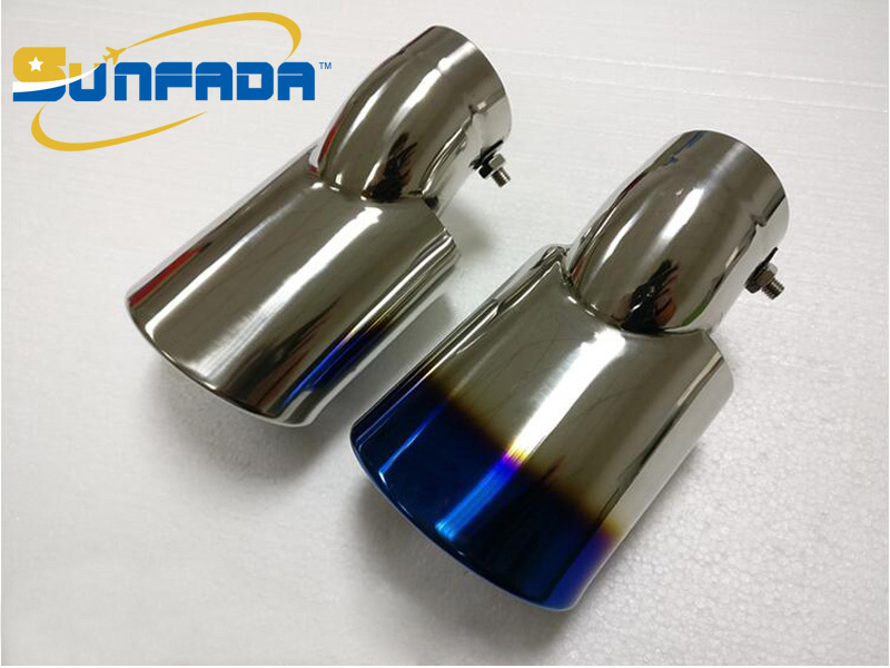 SUNFADA Top Quality 304 Stainless Steel Exhaust Tip Tail End Pipe Muffler Car styling For HONDA