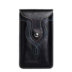 Универсальный кожаный поясной ремень с зажимом, чехол-кобура с крючком для смартфонов с диагональю 5,1-5,9 дюйма