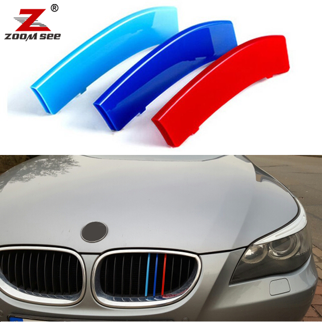 3D car Front Grille Grills Trim Strips Cover Performance Stickers for BMW 5 Series E60 525i 528i 530i 535i 545i 550i (2004-2010) for bmw 5 series e60 m5 e61 car front headlamp housing clear lens shell cover for bmw 525i 530i 528i 535i 540i 550i 545i n001