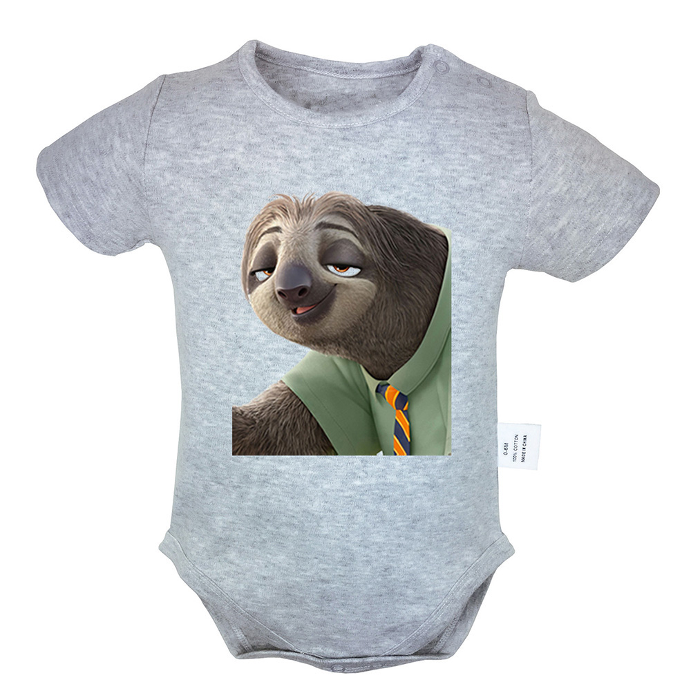 Zootopia Zootropolis Three-toed Sloth Newborn Jumpsuit Baby Bodysuit Outfit Sets