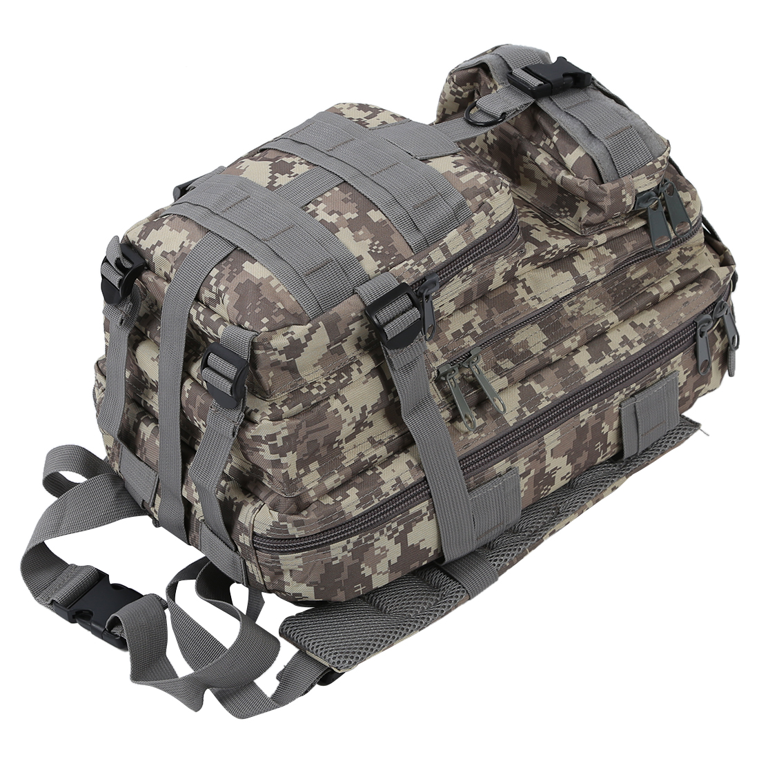 5 Pcs of (VSEN Hot 30L Military Army Rucksacks Molle Backpack Trekking Bag ACU Camouflage) vsen hot styleluggage bag replacement plastic 1 side rectangle buckle 10 pcs