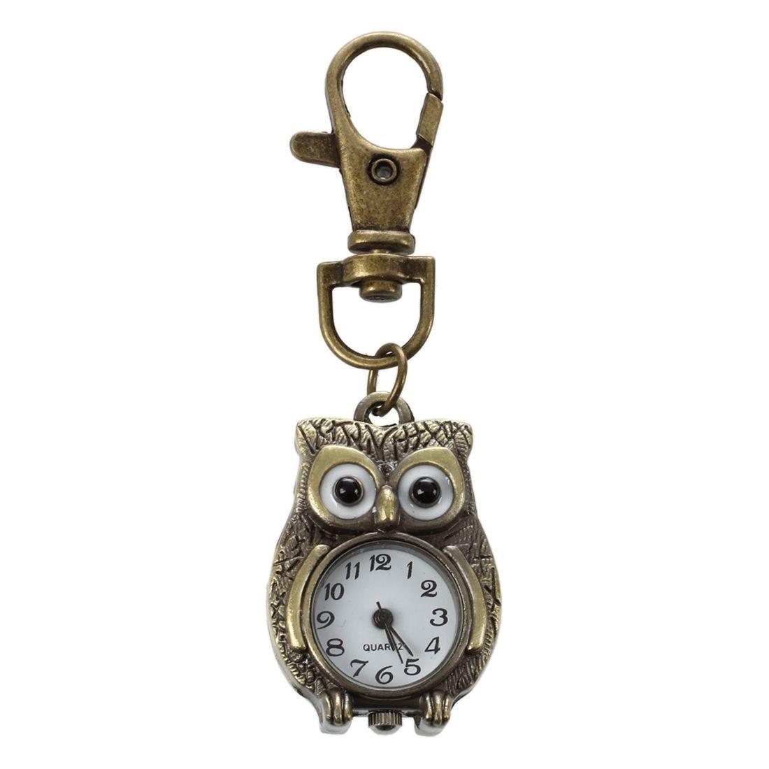 Keychain Clock Keyring Owl Shape pocket watch, 37x24mmKeychain Clock Keyring Owl Shape pocket watch, 37x24mm