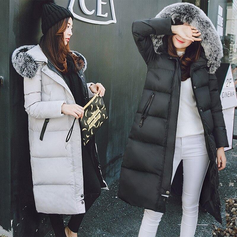 Parka 2018 D'hiver Chaud Style gray Canard Et Européen Black Col Manteaux Vente Duvet Pardessus De Fourrure Capuchon À Blanc 90 Vestes Femmes Wuj0733 Renard r0rCwFq