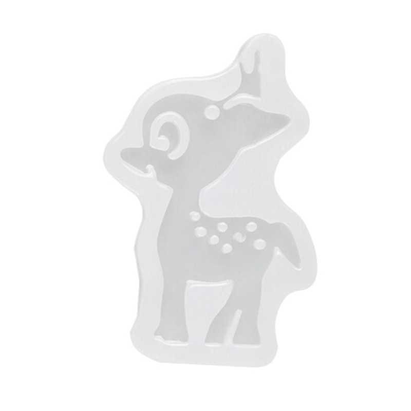 1 Pcs Hirsche Silikon Form Cartoon Weihnachten Diy Harz Dekorative Handwerk Silikon Form Für Epoxy Harz Schmuck Machen