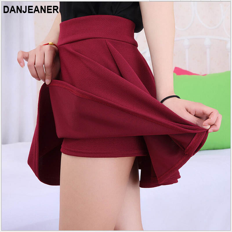 2015 Hot Women Bust Shorts Skirt Pants Pleated Plus Size Fashion Candy Color Skirts 9 Colors C718