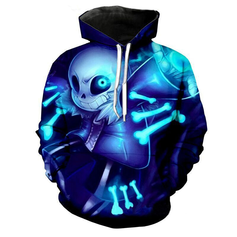 New hot sale Under the legendary Undertale brothers sans 3D printing hooded sweater Anime game jacket role-playing suit