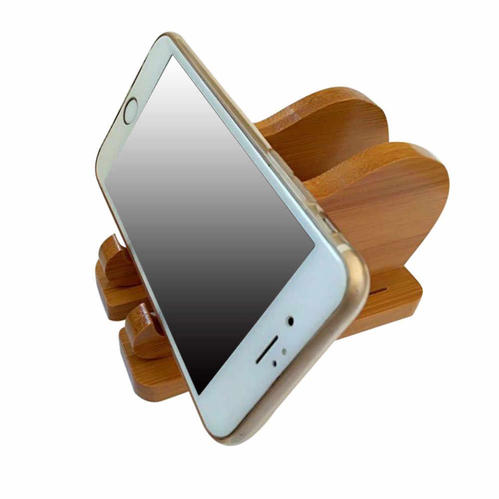 2017 neue Stil Universal Holz Desktop-Halter Halterung Für tablet ständer telefon zubehör handy halter
