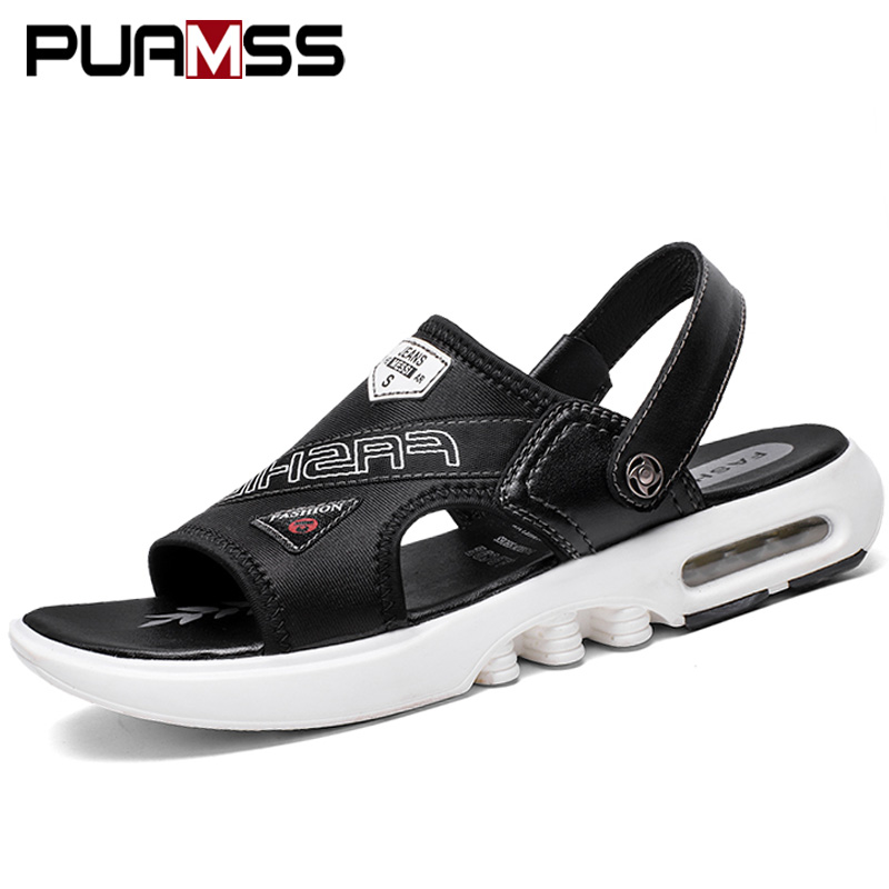 2019 New Males Sandals Summer time Sandals Footwear Snug Seaside Slippers Air Mens Footwear Sandalia Masculina Sandalias Versatile