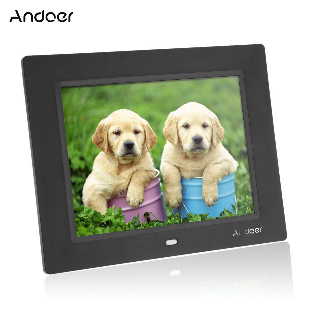Prix pour Andor 8 ''Ultra-Mince HD TFT-LCD Numérique Cadre Photo Réveil MP3 MP4 Lecteur Vidéo Cadre Photo Numérique Avec Télécommande de bureau