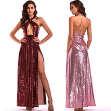 MUXU woman clothes backless sequin glitter pink fashion dresses vestidos party long dress robe femme ete 2018 verano