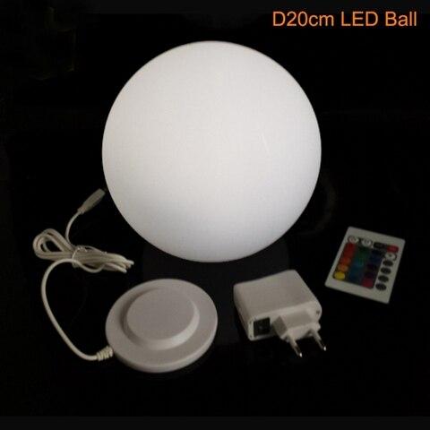 led bola esfera luz noturna 16 mudanca
