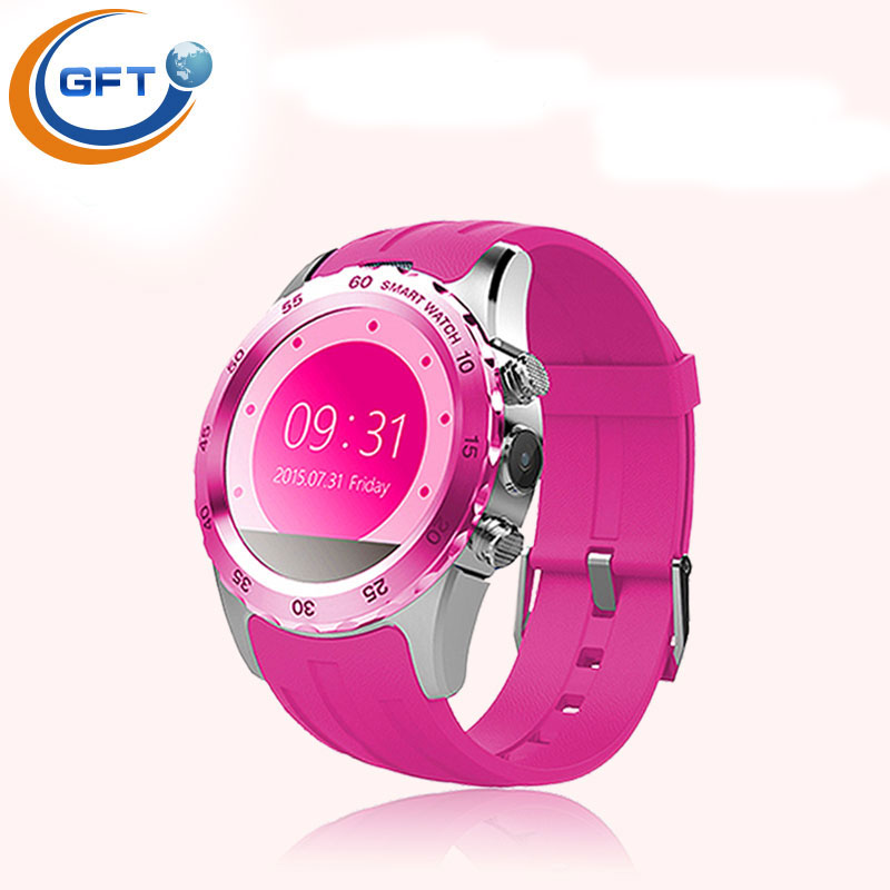 GFT KW08 new <font><b>times</b></font> smart watch phone push calls pedometer sedentary reminder sleep monitoring MTK6260 smart watches sim