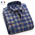 Langmeng бесплатная доставка фланелевые рубашки повседневные горячая фирменный стиль высокая качество новая коллекция весна осень мужчины плед рубашки мужчина тонкий платье рубашка
