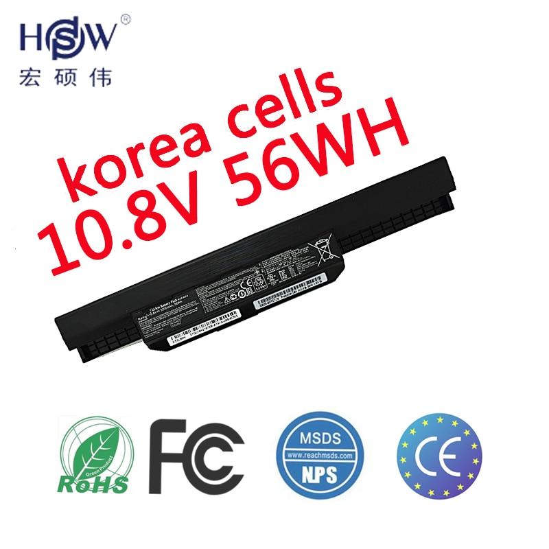 HSW Battery For Asus X54H X53U X53S X53SV X84 X54 X43 A43 A53 K43 K53U K53T K53SV K53S K53E k53J A53S A42-K53 A32-K53 new laptop for asus a53t k53u k53b x53u k53t k53t k53 x53b k53ta k53z top lcd plamrst cover bottom cover hinges speaker jack
