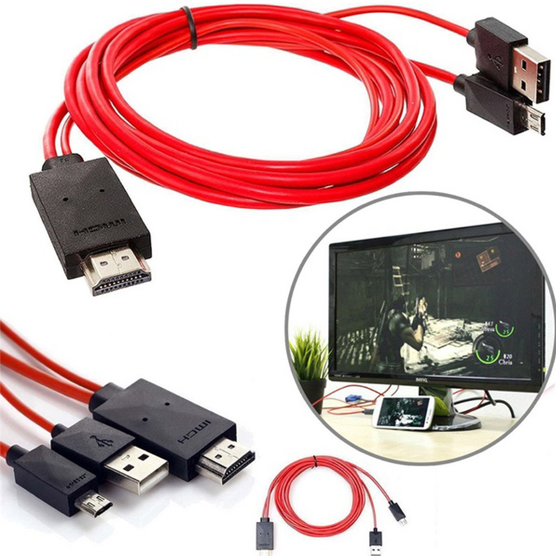 <font><b>HDMI</b></font> MHL <font><b>Adapter</b></font> 1080 P <font><b>Micro</b></font> <font><b>USB</b></font> zu <font><b>HDMI</b></font> Kabel Konverter 11pin Für Samsung S3 S4 S5 Note2 Note3 Note4 1,8 M image