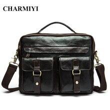 CHARMIYI Brand Men Genuine Leather Handbags High Quality Casual Shoulder Crossbody bag Men Travel Bags Laptop Briefcase Bag