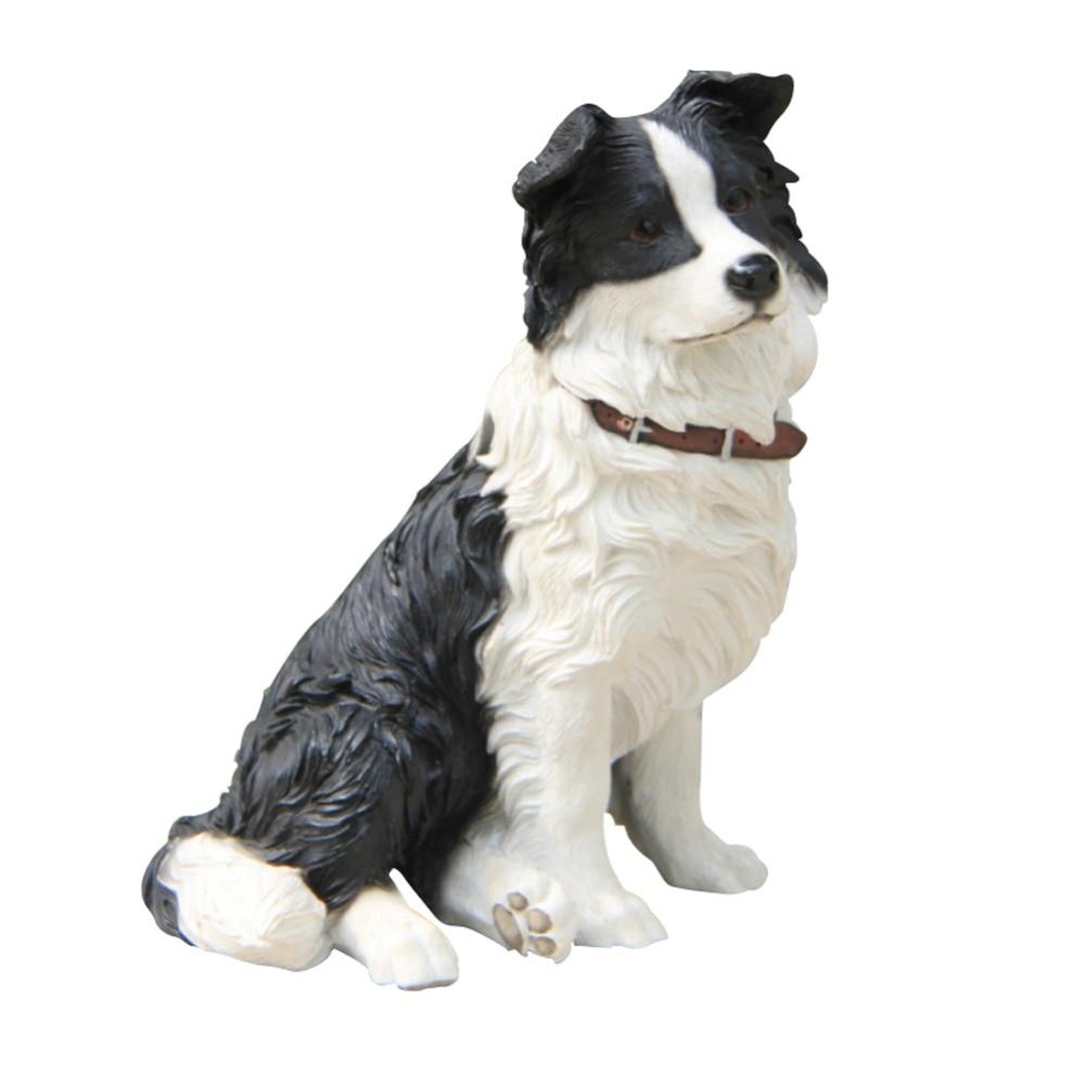 Collie Dog Ornament Animal Statue Resin