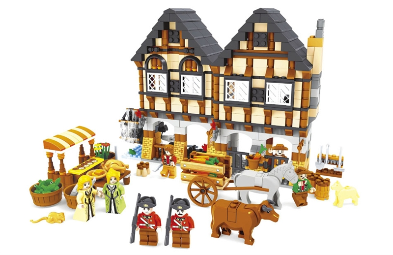 Model building kits compatible with lego city vegetable market 3D blocks Educational model building toys hobbies for children lepin 02012 city deepwater exploration vessel 60095 building blocks policeman toys children compatible with lego gift kid sets