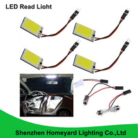 10pcs Super White New Energy saving COB 18SMD Panel Dome Lamp Auto Car Interior Reading Light Roof Ceiling Interior Wired Lamp