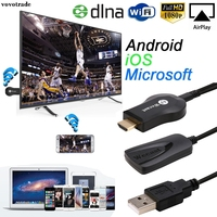 Miracast 1080P WiFi Display TV Dongle Wireless Receiver HDMI AirPlay DLNA Share For IOS Android Windows