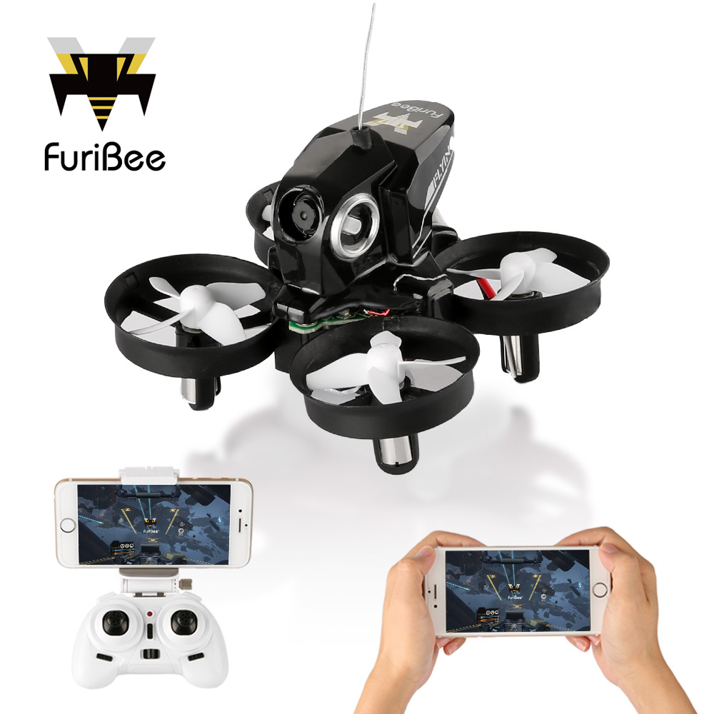 FuriBee H801 Mini Drone With WiFi FPV Remote Control Quadcopter Headless Mode One Key Return RC Quadcopters VS JJRC H36 H37