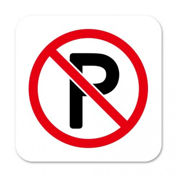 10pcs No Smoking Keep Dry Recycle No Parking PVC Removable Warning Logo Sign Sticker Window Wall Sticker Office Decor Car Decal in Wall Stickers from Home Garden
