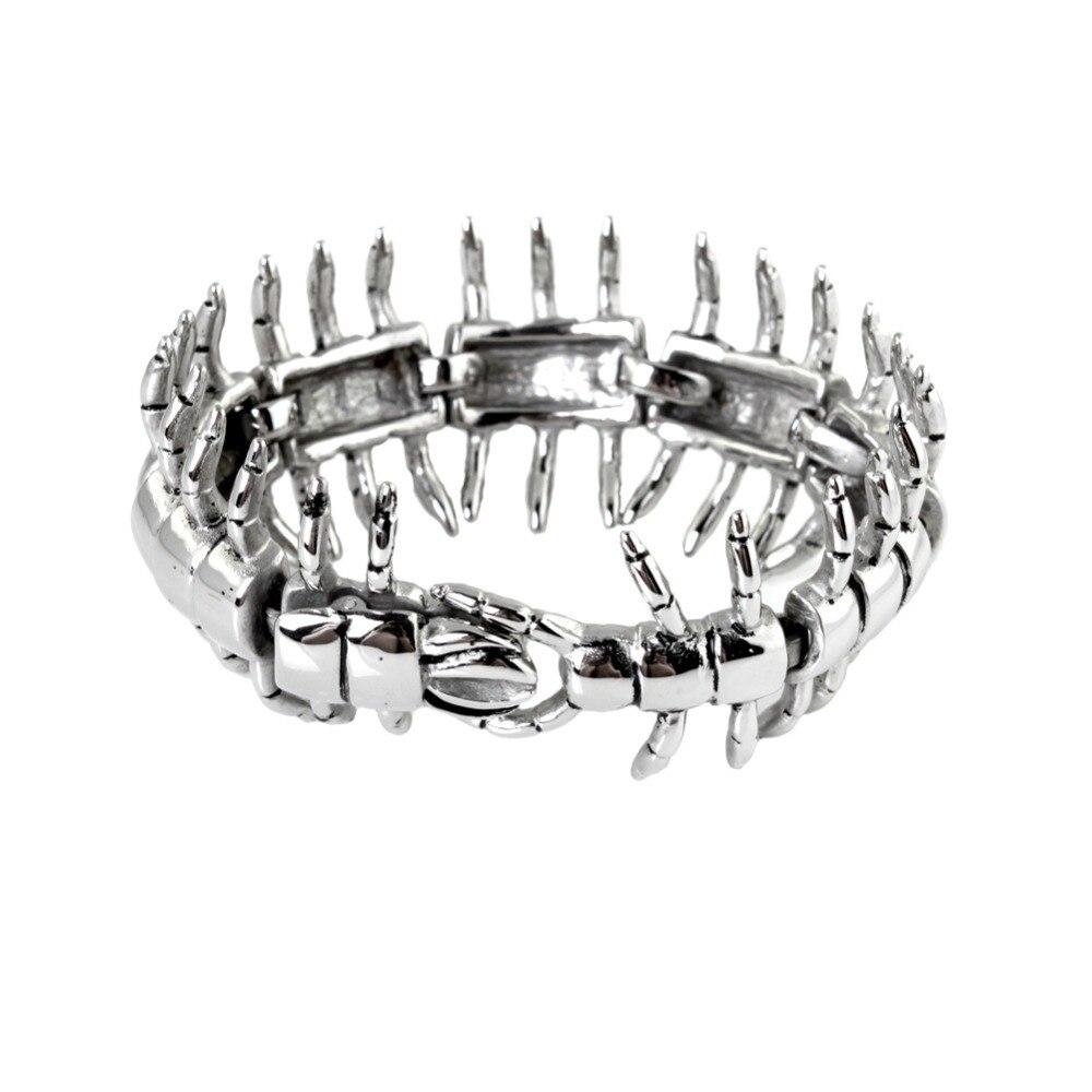 Promotion vente livraison gratuite bijoux de mode en acier inoxydable 316L argent Centipede hommes & Boy bracelet, Bonne accessoire