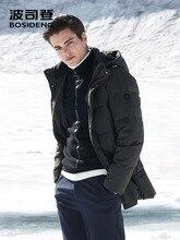 BOSIDENGฤดูหนาวThickenลงเสื้อสำหรับชายHooded Down Coat Outwearกลาง ยาวปกติกันน้ำหกสีb80141021
