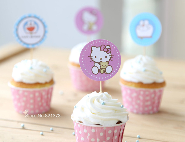 Free Shipping hello kitty cake toppers for party kids birthday