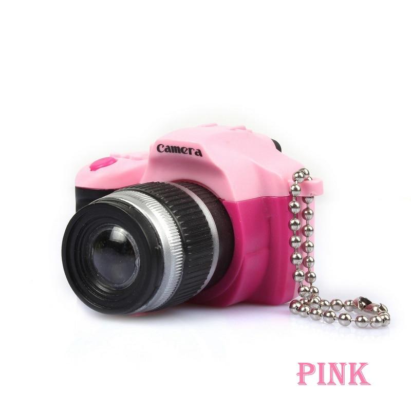 Светодиодная камера мигающая игрушка для детей цифровой брелок с камерой светящийся звук вспышка светильник Подвеска сумка Аксессуары Детская игрушка - Цвет: Розовый
