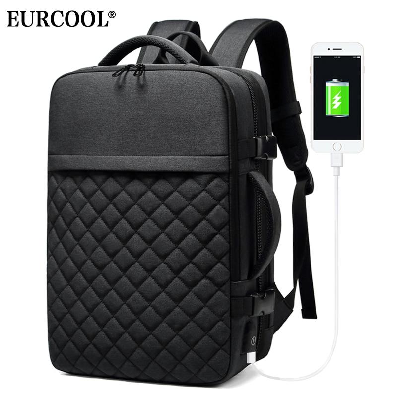EURCOOL Travel Backpack Men 15.6 inch Laptop Multifunction Large Capacity Backpacks Water Repellent Business Backpack n1811-2EURCOOL Travel Backpack Men 15.6 inch Laptop Multifunction Large Capacity Backpacks Water Repellent Business Backpack n1811-2