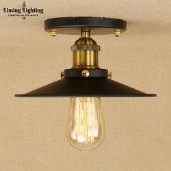 Retro Edison w stylu loft przemysłowe lampy sufitowe antyczne żelaza Vintage oprawy oświetlenia sufitowego oświetlenie wewnętrzne Lampara De Techo