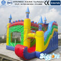 Castle Style Inflatable Bouncer With Slide For Kidsy Party