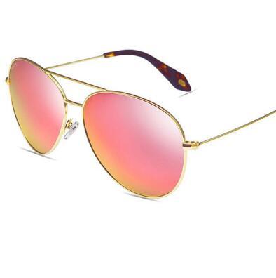 Real Polarized Men & Women Sunglasses Aviation Flash Mirrored Lens UV Protection Eyewear Female BG209-213 Pilots Sun Glasses