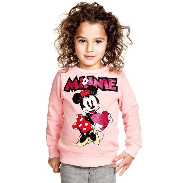 New Boys Girls Mickey T shirt Spring Autumn Long Sleeve Cartoon T Shirts For Kids Minnie Casual Clothing Children Sweatshirt Top 2