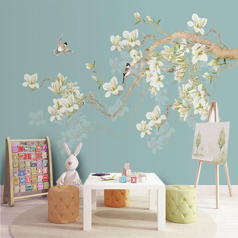 Foto carta da parati di stile cinese uccello fiori 3d for Immagini carta da parati 3d