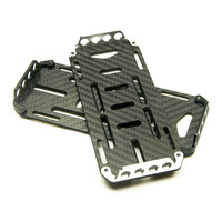 Free Shipping Battery Fixing Board Mounting Plate For Axial SCX10 RC Simulation Crawler Car Carbon Fiber
