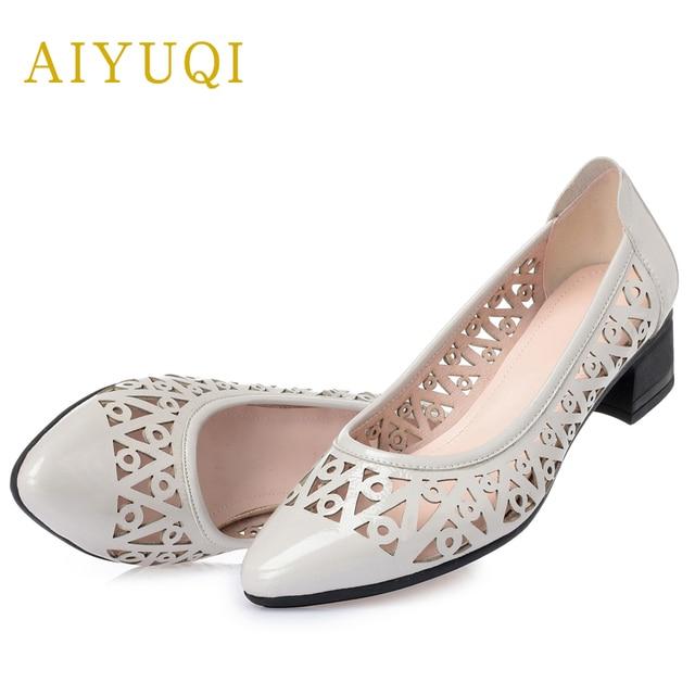 Aiyuqi женские босоножки сезон лето; 2020 с заостренным носком