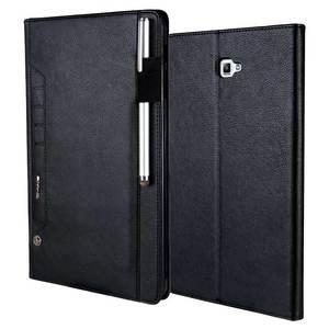"Image 4 - למעלה כיתה רטרו עור מקרה עבור Samsung Galaxy Tab 10.1 ""2016 T580 עסקים Stand כרטיס חכם כיסוי עבור סמסונג SM T585 T580"
