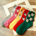 Hot Sale thick Autumn Winter Christmas Sock women sock cotton Socks Santa Claus candy color perfect elastic Free Shipping