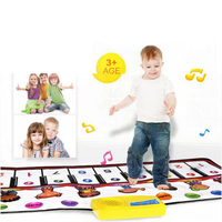 MUQGEW Baby Play Mat Soft Musical Mat Activity Gym Play Gym Animal Sounds Educational Learning Baby