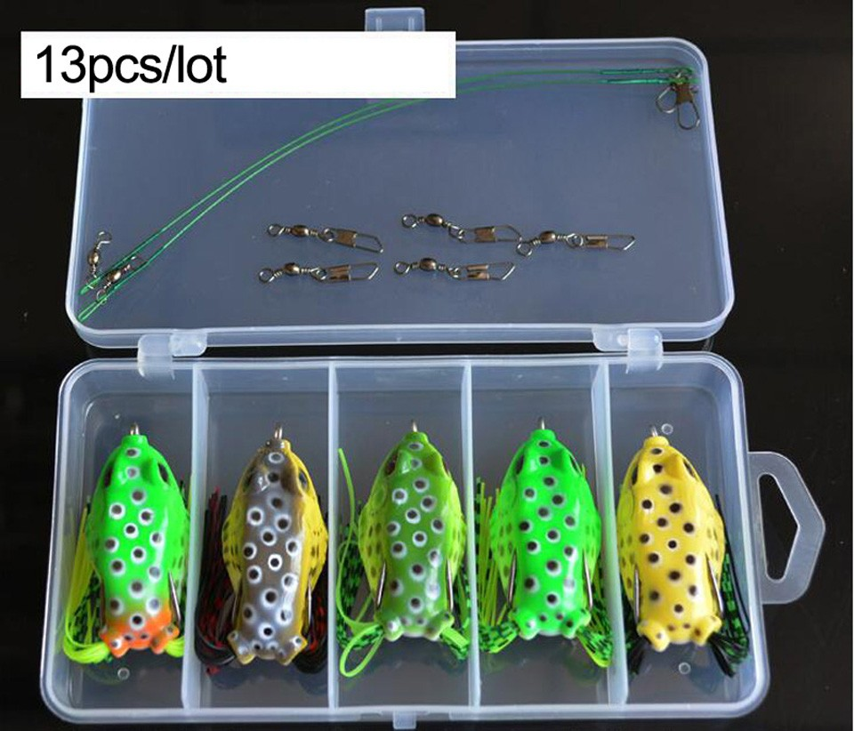 192pcs Fishing Lures Bass Baits box hooks Soft bait connector