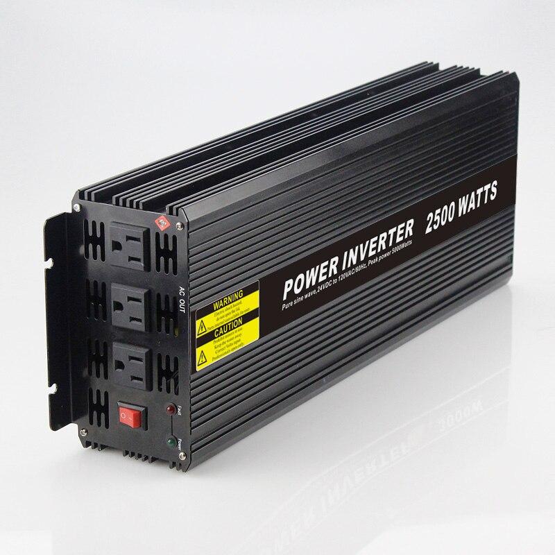 Real power 2500W Car Power Inverter Converter DC 48V to AC 110V or 220V Pure Sine Wave Peak 5000W Power Solar inverters